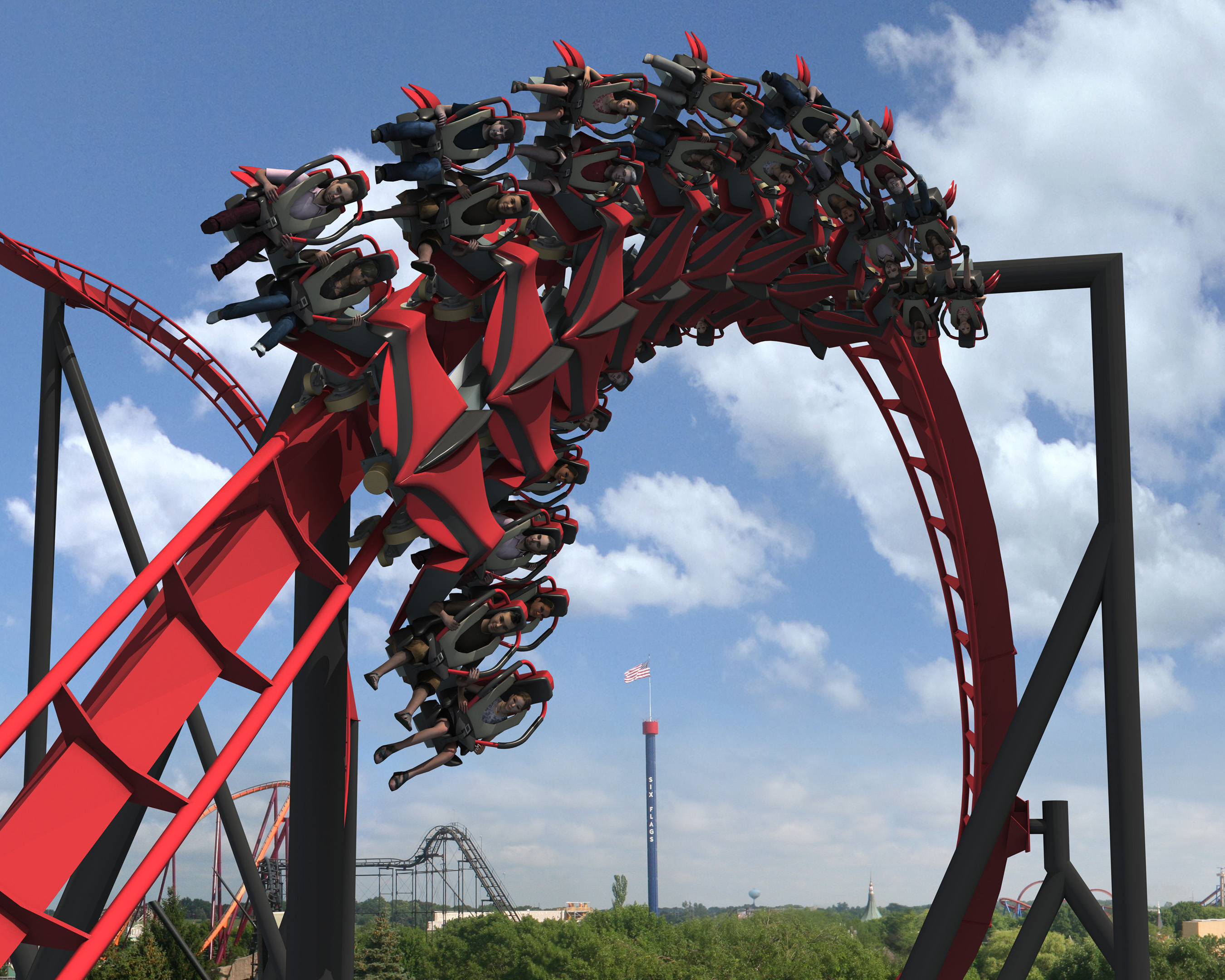 B M Wing Coaster coming to Six Flags Great America in 2012 Amusement Today