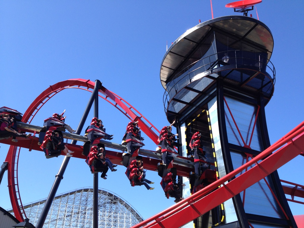 Six Flags Great America previews X Flight Amusement Today